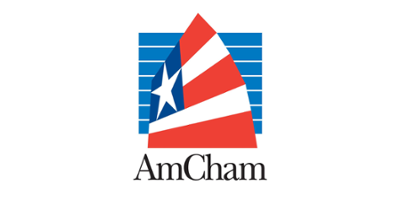 The American Chamber of Commerce in Hong Kong (AmCham HK) logo